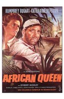 The African Queen Bogart & Hepburn Framed Print