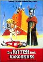Monty Python and the Holy Grail - men fighting Wall Poster