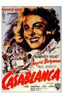 Casablanca Ingrid Bergman Wall Poster