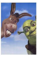 Shrek 2 Donkey and Shrek Framed Print