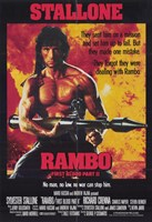 Rambo: First Blood  Part 2 Stallone Framed Print