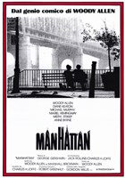 Manhattan - red border Wall Poster