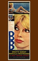 Very Private Affair Brigitte Bardot Framed Print