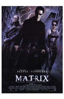 The Matrix - lightning Framed Print