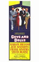 Guys and Dolls Tall Movie Fine Art Print
