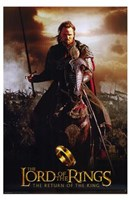 Lord of the Rings: Return of the King Riding on Horse Framed Print