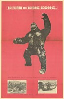 King Kong Strikes Again Wall Poster