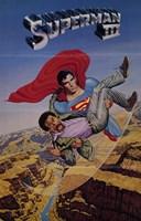 Superman 3 Saving Wall Poster