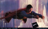 Superman: the Movie Flying in the Sky Framed Print