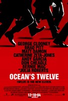 Ocean's Twelve Red Wall Poster