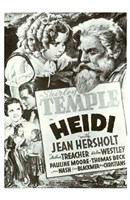 Heidi Black And White Film Poster Wall Poster