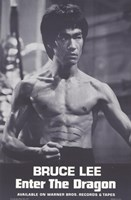 Enter the Dragon Burce Lee Black and White Framed Print