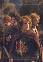 Lord of the Rings: Fellowship of the Ring Hobbits Fine Art Print