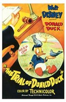 Trial of Donald Duck Wall Poster