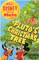 Pluto's Christmas Tree Wall Poster