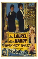 Way Out West Laurel Hardy Wall Poster