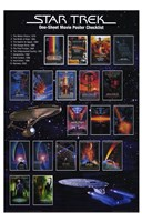Star Trek: One-Sheet Movie Poster Checklist Fine Art Print