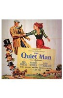 The Quiet Man Cast O'Hara and Wayne Wall Poster