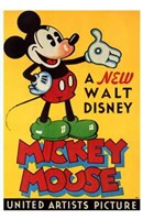 A New Walt Disney Mickey Mouse in Yellow Fine Art Print