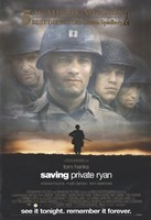 Saving Private Ryan - See it tonight. Remember it forever. Framed Print