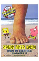 Spongebob Squarepants Sponge Meets World Wall Poster