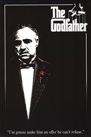 Godfather - Red Rose Wall Poster