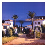 Mediterranean Morning Shadows II Framed Print