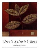 Crimson Leaf Study II Fine Art Print
