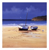 Moorings Low Tide Framed Print