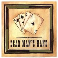 Dead Man's Hand Framed Print