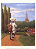 The Road to Paris Framed Print