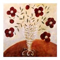 Trailing Pansy Bouquet Fine Art Print