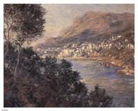 Monte Carlo Vue De Cap Martin Framed Print