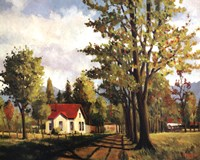 House On The Rural Road Fine Art Print