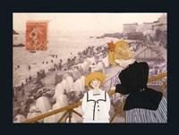Jeanne, Sa Mere Et La Mer Fine Art Print
