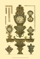 Antique Decorative Clock I Fine Art Print