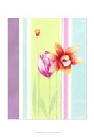 Flowers & Stripes I Fine Art Print
