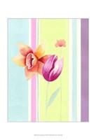 Flowers & Stripes II Fine Art Print