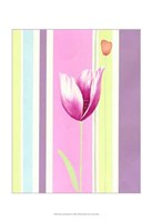 Flowers & Stripes III Fine Art Print