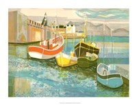 Boats in Harbor II Giclee