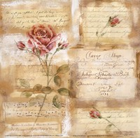 Rose Concerto I Fine Art Print