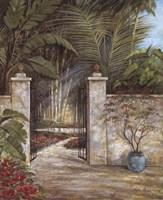 Tranquil Garden I Framed Print