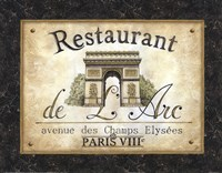 Restaurant de l'Arc Framed Print