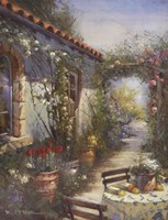 Sun Drenched Courtyard Fine Art Print