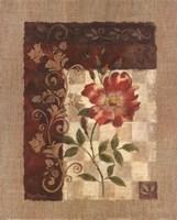 Burlap Climbing Rose Fine Art Print