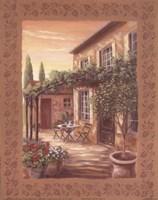 Provence Courtyard II Fine Art Print