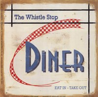 Whistle Stop Diner Fine Art Print
