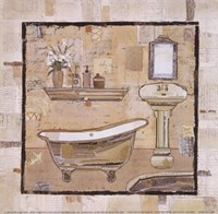 Vintage Bath Time II Fine Art Print