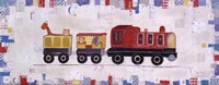 Red Circus Train Fine Art Print