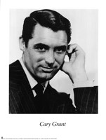 Cary Grant Black and White Framed Print